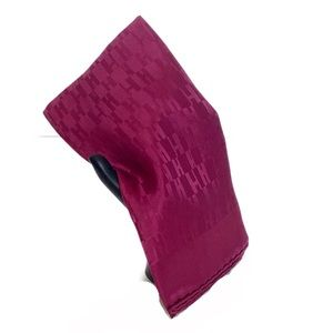 NWT Hermes Pocket Square Mens Faconnee Rose Indien